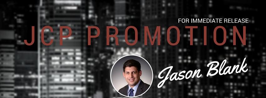 Jason Blank Promoted to Senior Transaction Manager