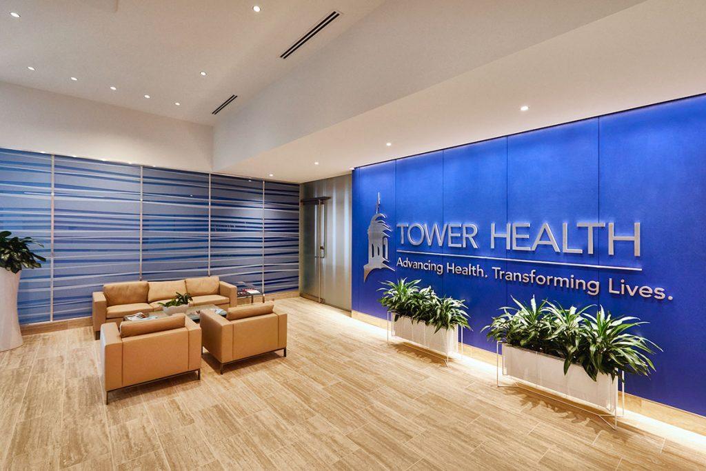 Tower Health Blue Wall